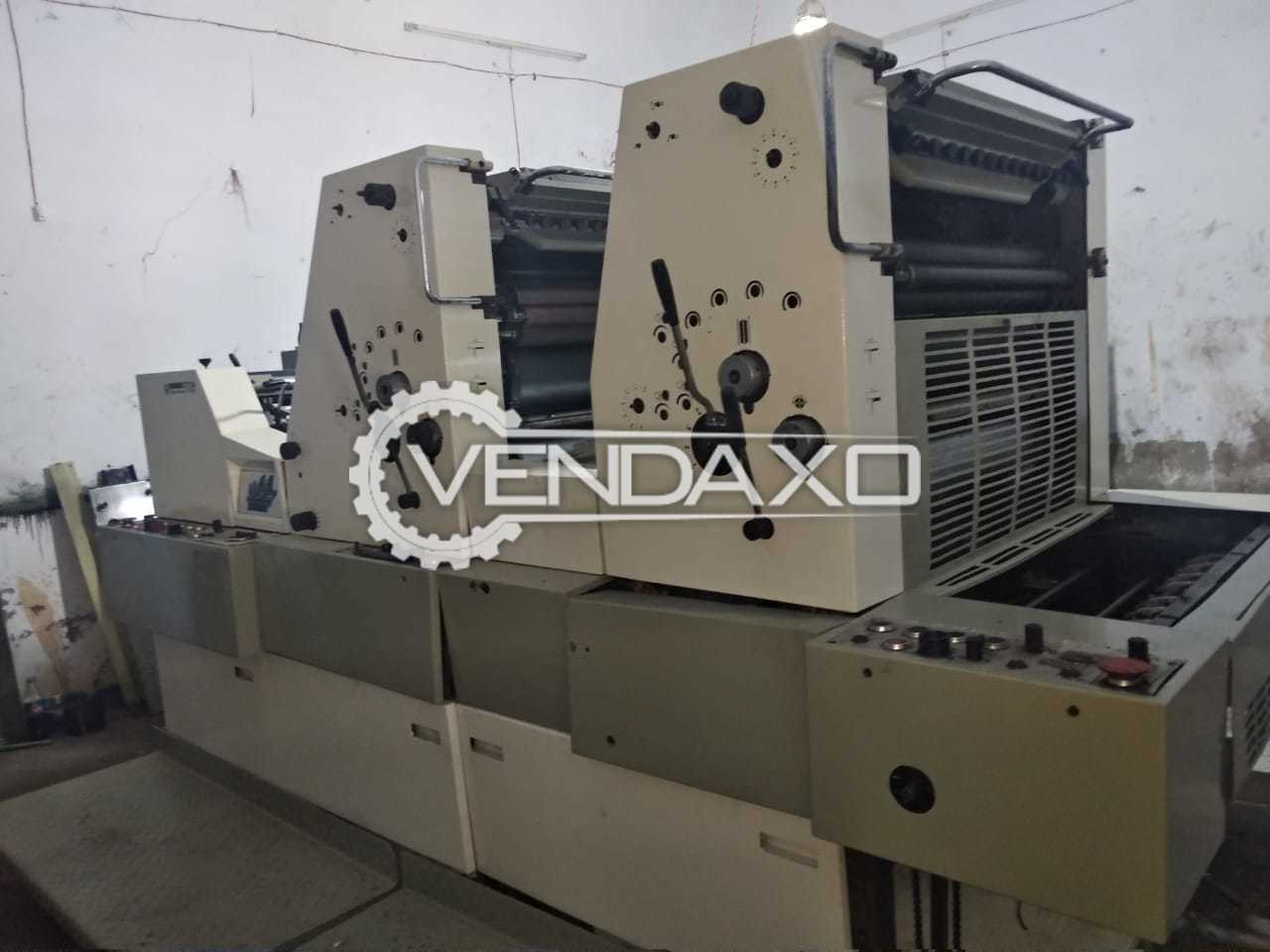 ADAST DOMINANT 725 Offset Printing Machine - 19 X 26 Inch , 2 Color