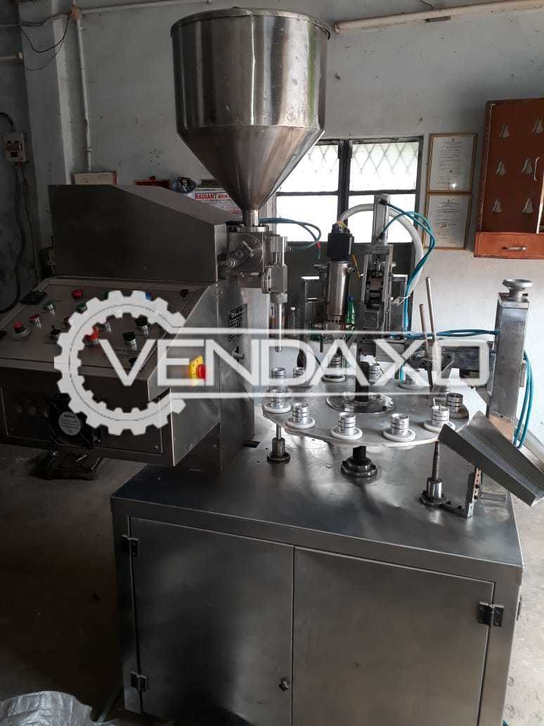 Semi Automatic Lami Tube Filling and Sealing Machine -  Filling Capacity - 50 Gram