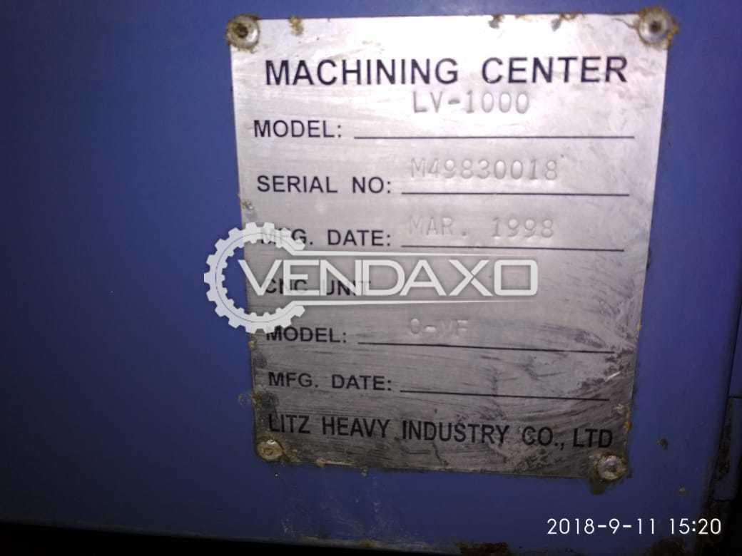 Litz LV-1000 CNC Vertical Machining Center