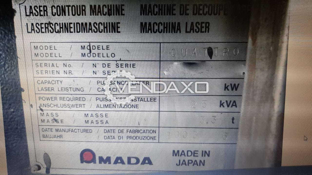 Amada Quattro Laser Cutting Machine - 1 KW