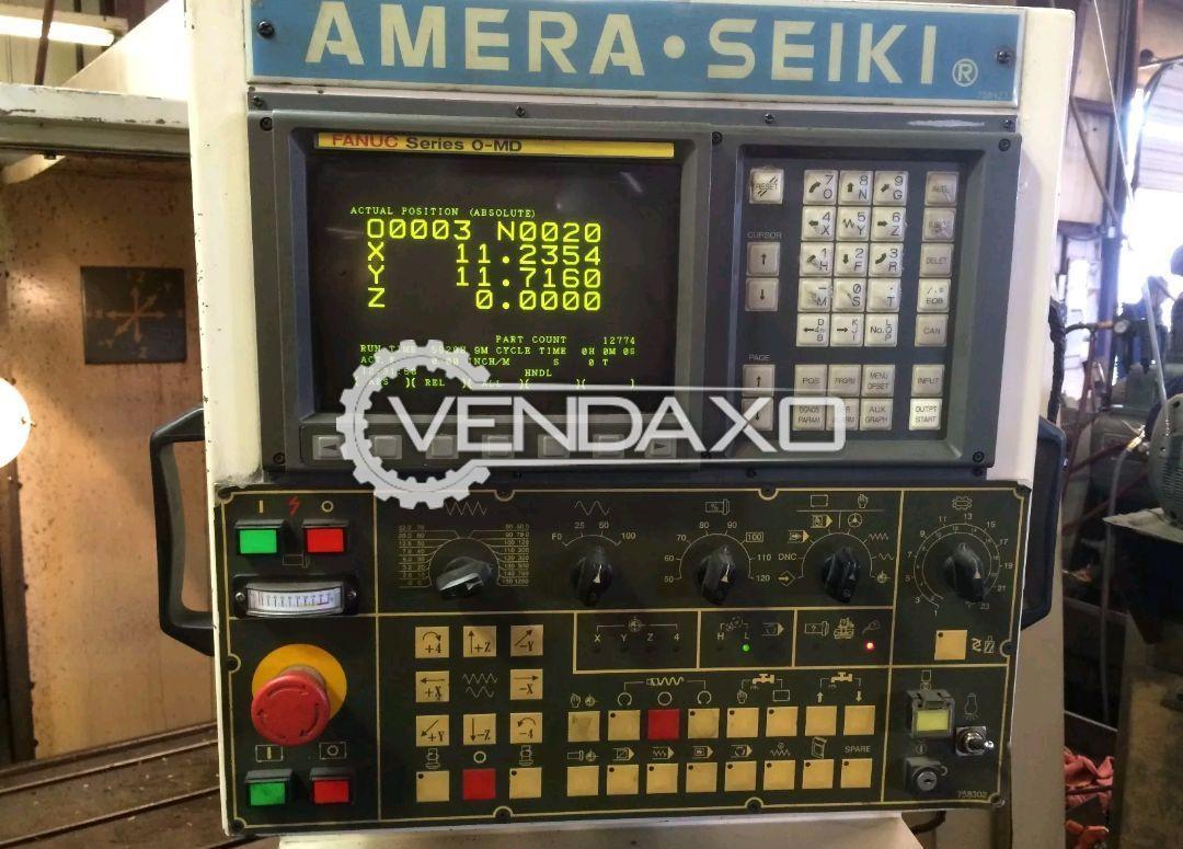 "Amera Seiki VS3 CNC Vertical Machining Center - Controller - Fanuc OMD , Table Size - 48"" x 20"""