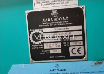Karl Mayer HKS3M-P Warp Knitting Machine - Width - 186 Inch , 2012 Model