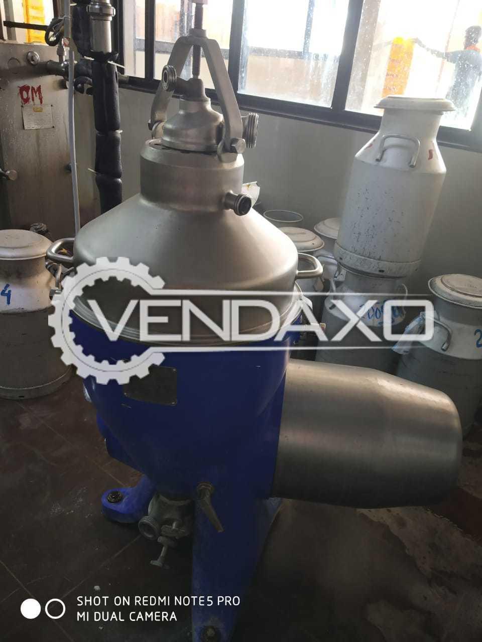 Cream Separator - 5000 Liter