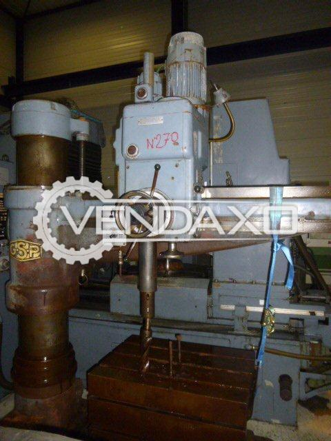 GSP GYP-1 Radial Drill Machine - Capacity - 40 mm x 1250 mm