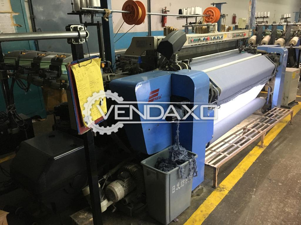 Available For Sale 6 Set of RIFA RFRL-20 Rapier Loom Machine - Width - 190 Cm , 4 Color With Dobby