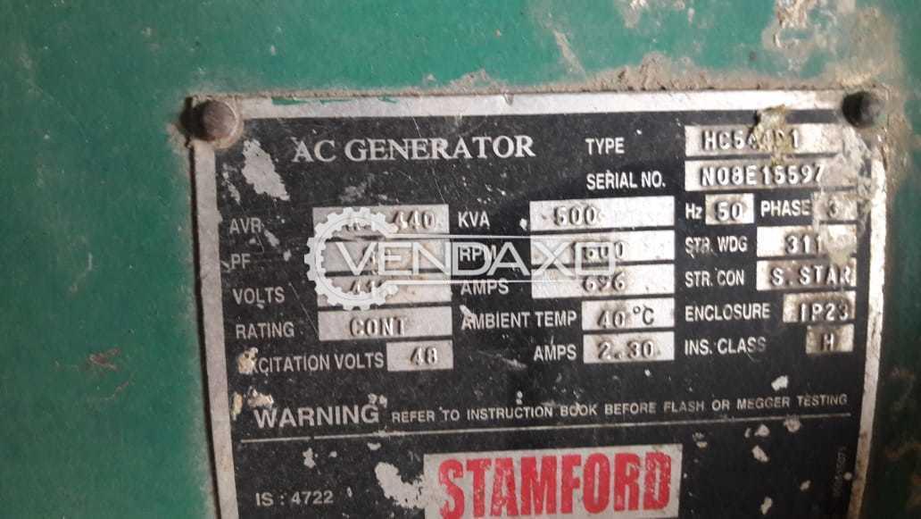 CUMMINS Open Diesel Generator - 500 Kva