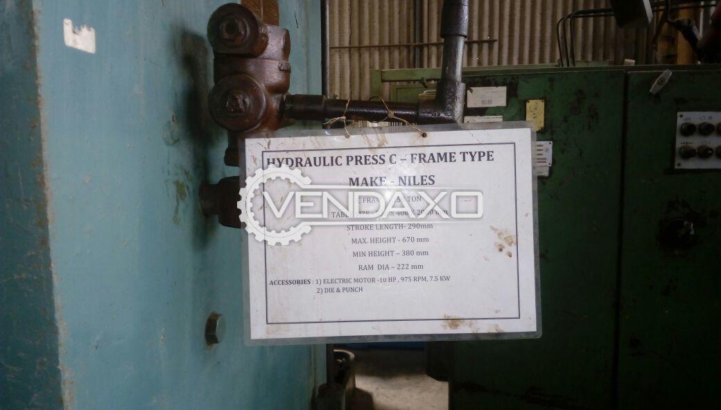 Niles 150 C Frame Hydraulic Press - 150 Ton