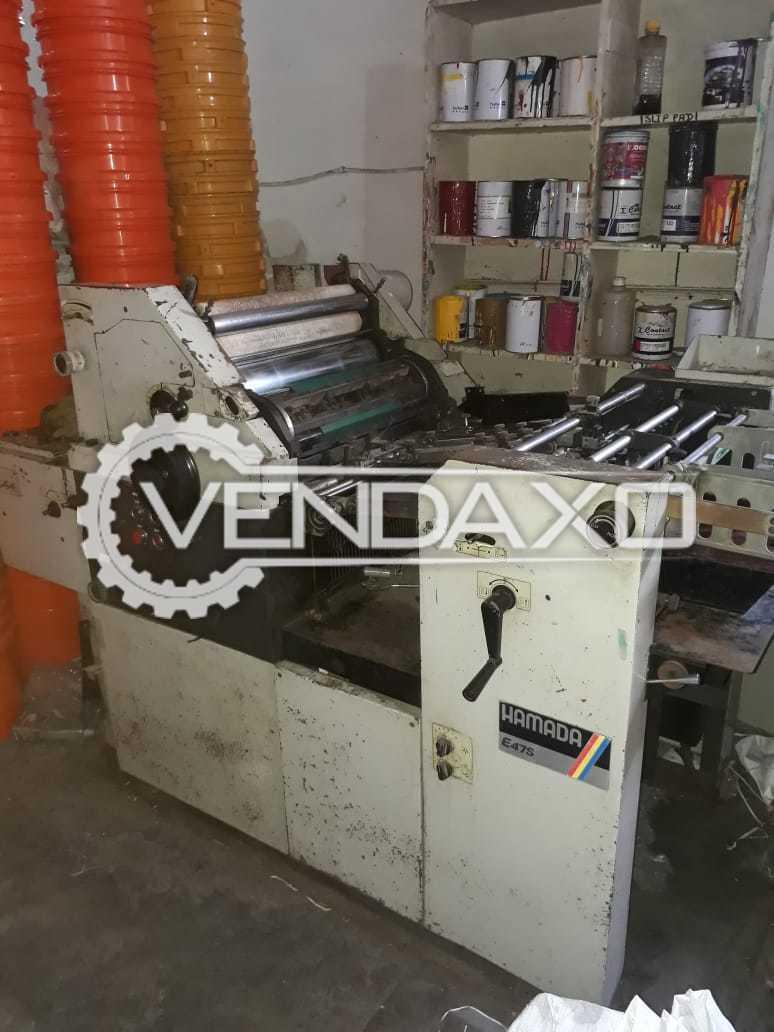 Hamada E72 Offset Printing Machine - 14 x 18 Inch With Paper Cutting Machine