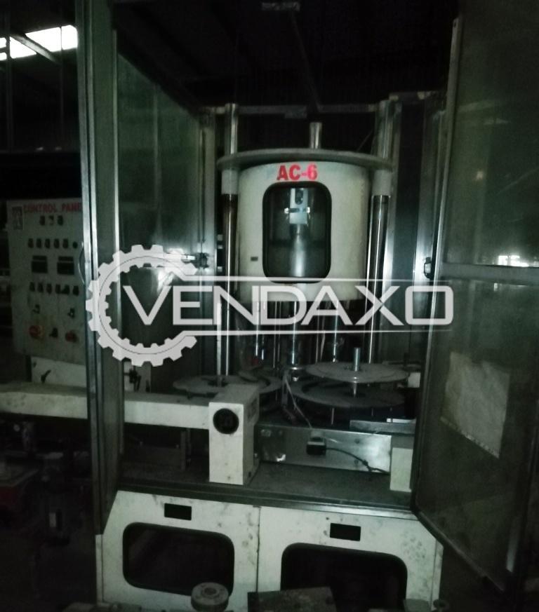6 Head Rotary Capping Machine - 120 UPM