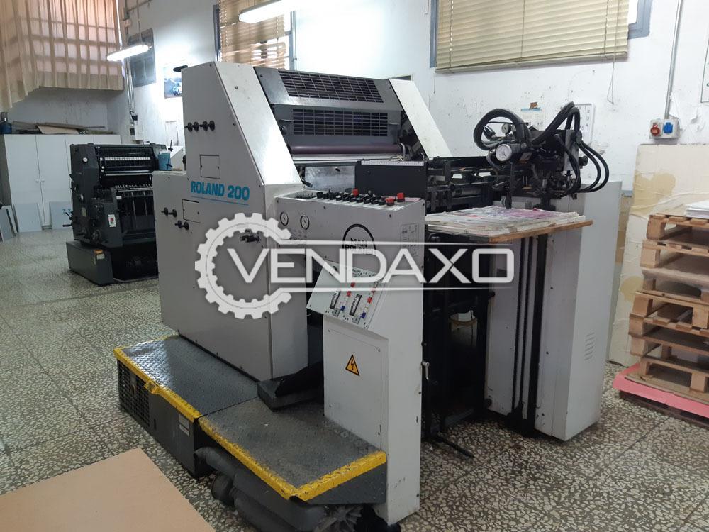 ROLAND 202 TOB Offset Printing Machine - 2 Color