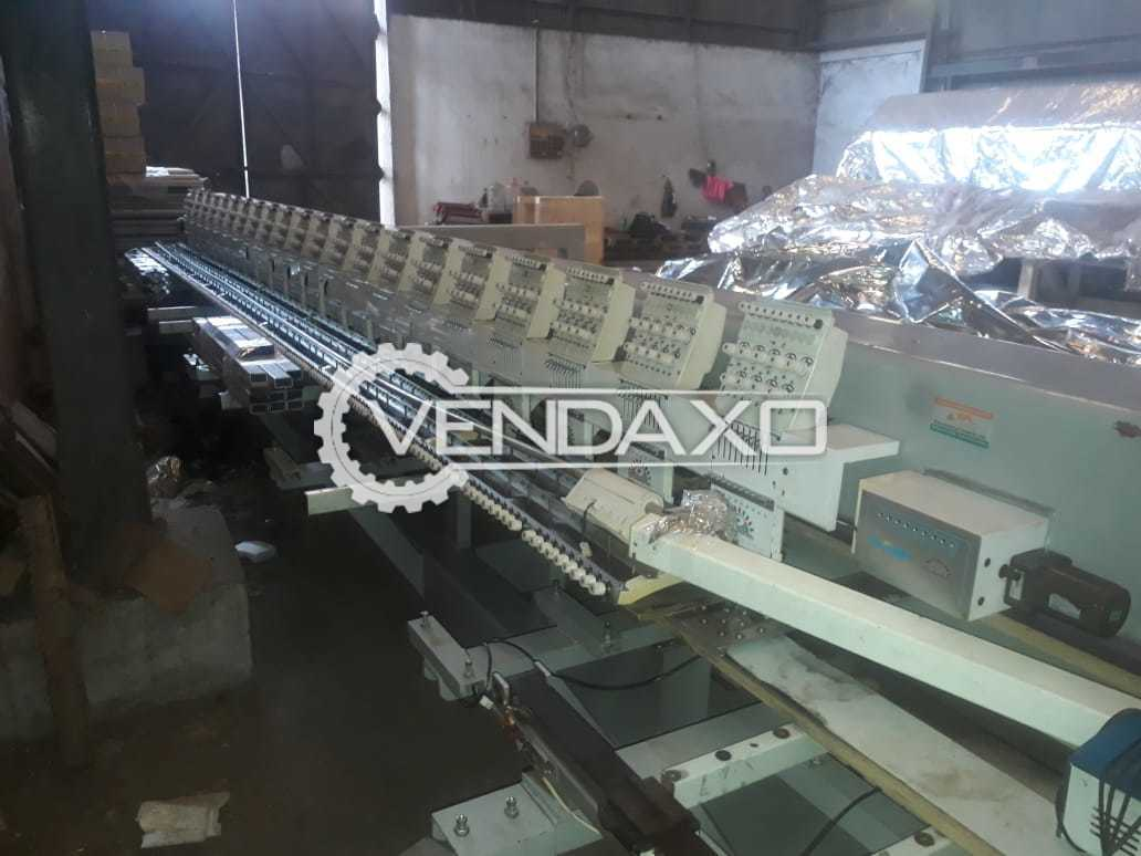Yuemei EF-N921 Embroidery Machine - Embroidery Area - 300 x 600 x 1200 mm