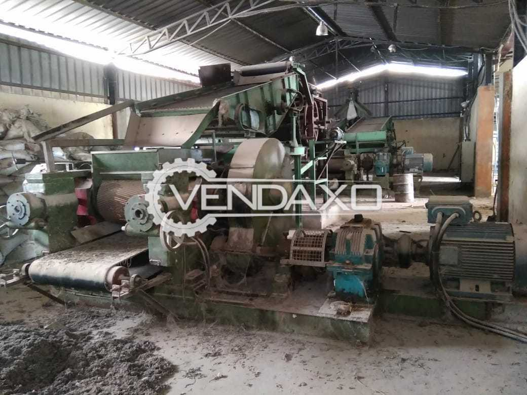 Available For Sale Complete Plant and Machinery of Reclaimed Rubber - 10 Metric Ton With Panel and Motors