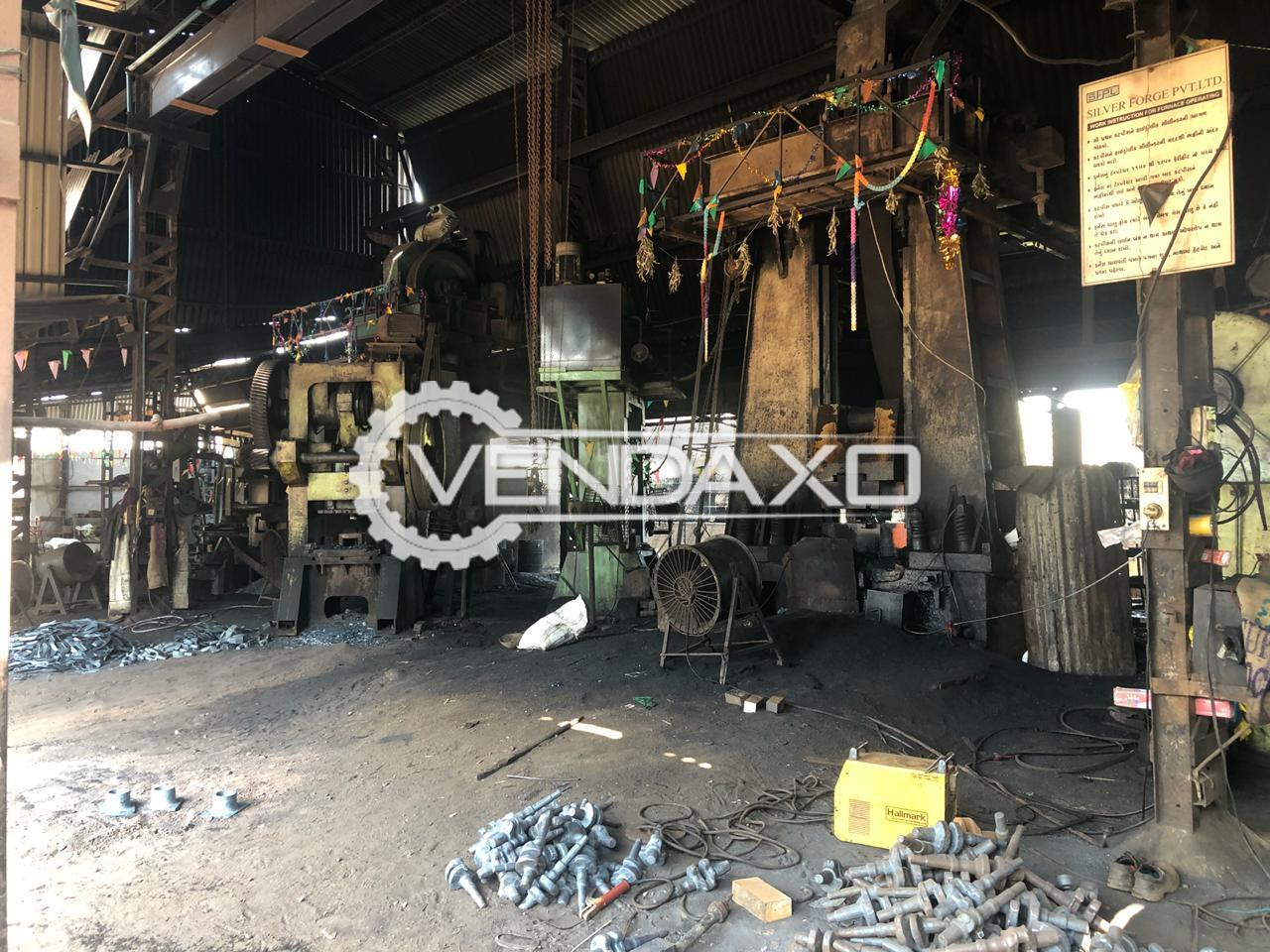 Available For Sale Complete Die Forging Plant - 600 Ton Per Month