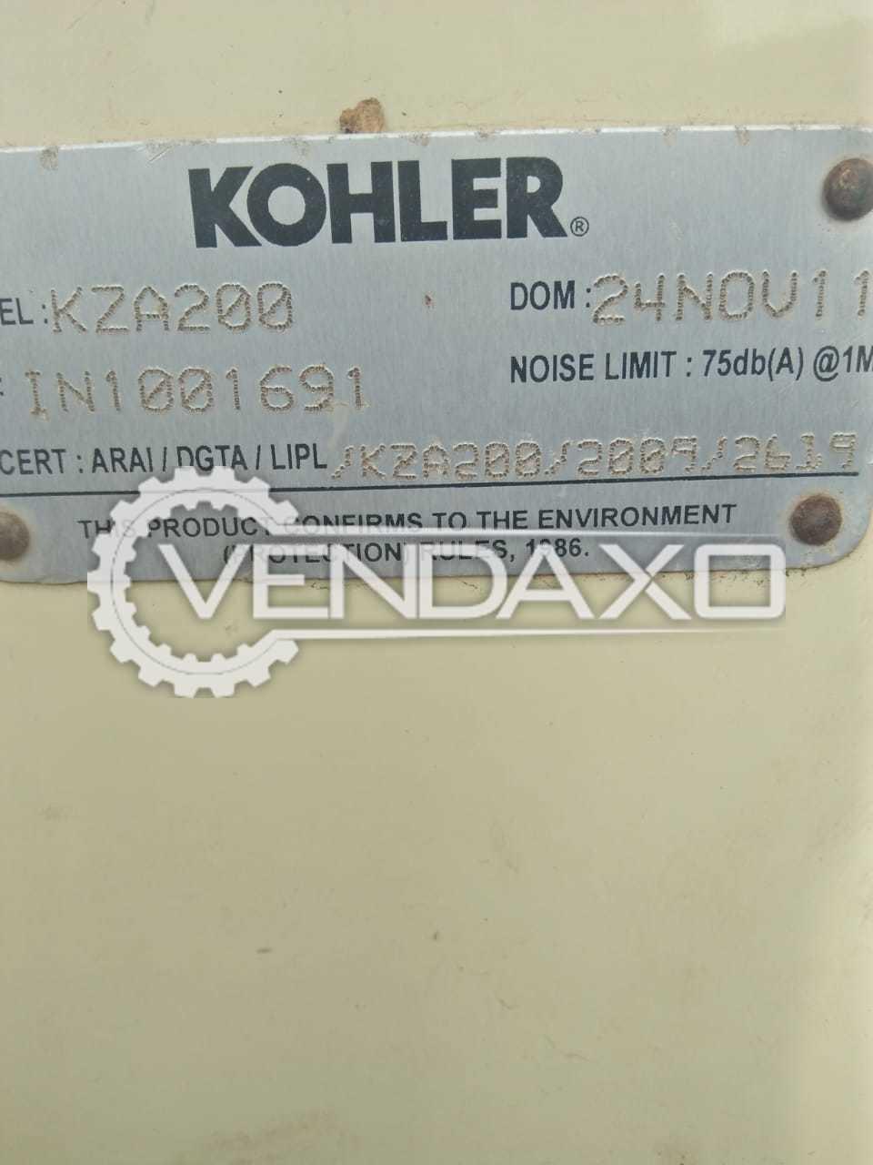 Kohler Diesel Generator - 200 Kva