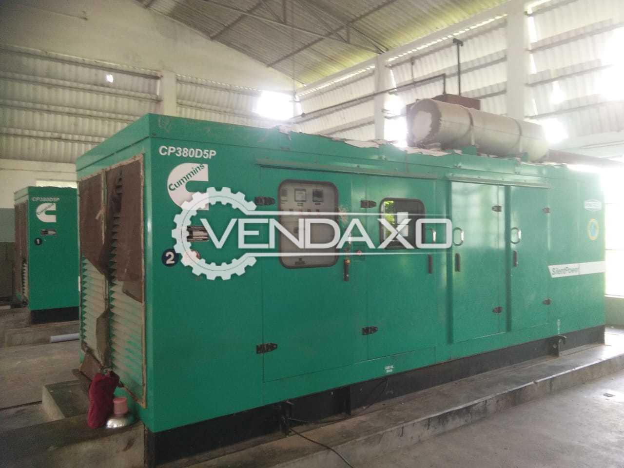 Used CUMMINS Diesel Generator - 380 Kva for Sale at Best