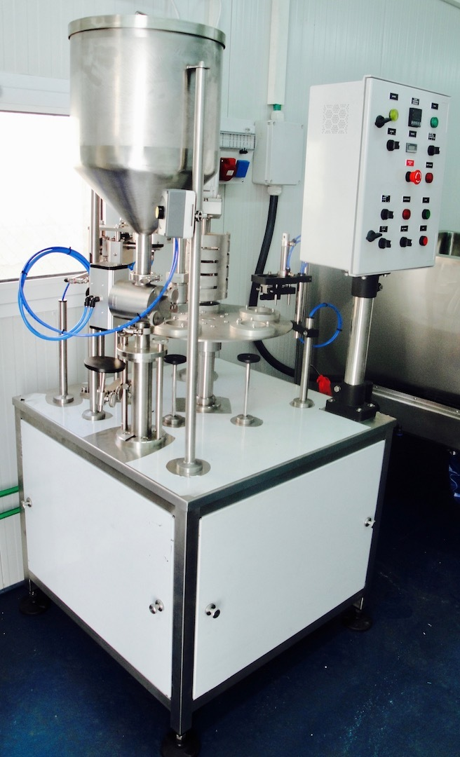 Semi-Automatic Cups Filling & Sealing Machine