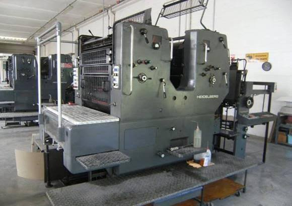 Heidelberg SORSZ 516 - 2 Color Offset Printing Machine
