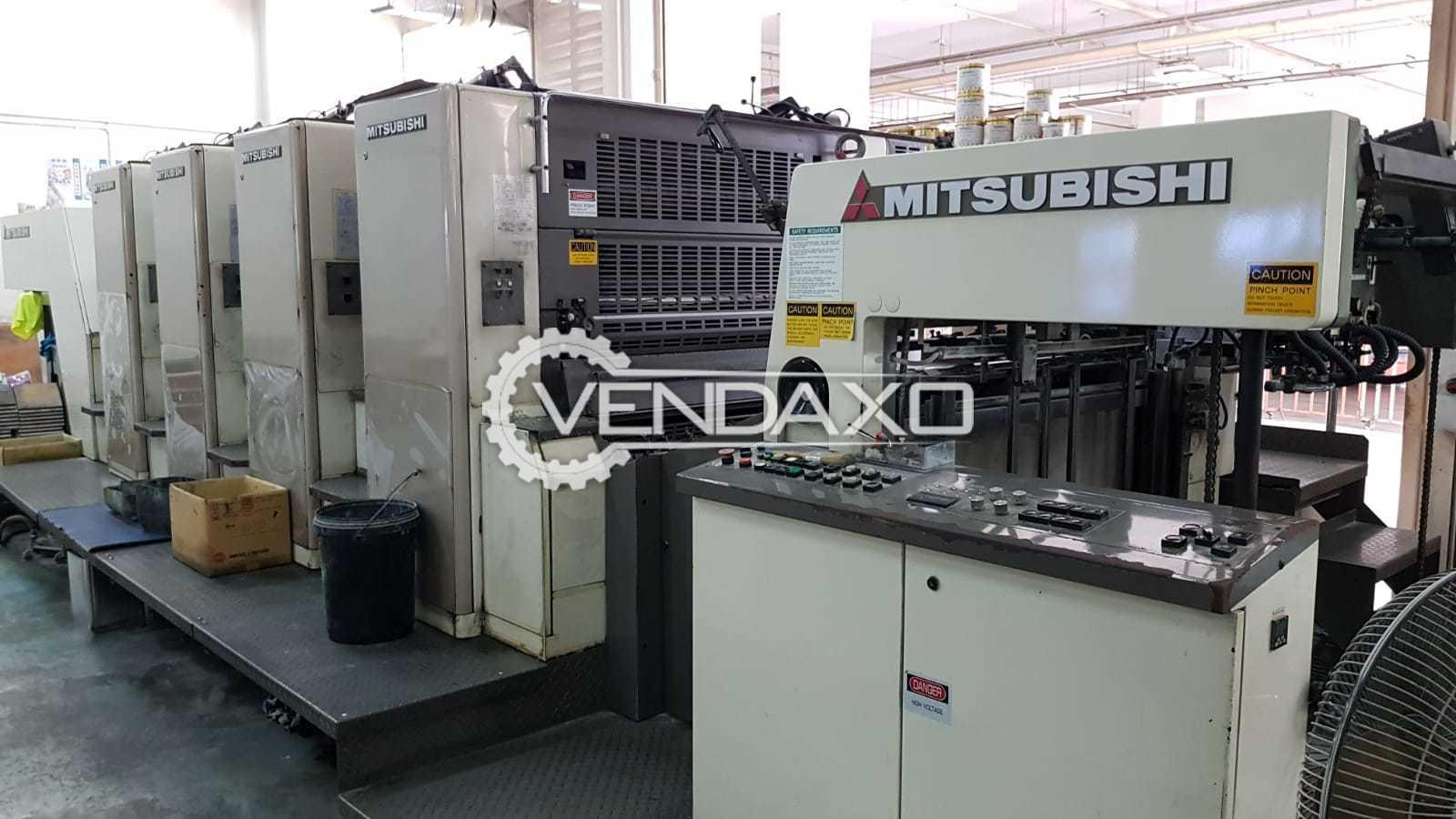 Mitsubishi D3000 LS-4 Offset Printing Machine - Size - 72 x 102 CM , 4 Color