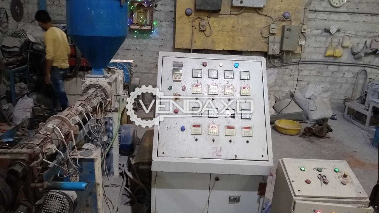 Rigid PVC Plant for Sale (Suitable for Electric Conduit and Sewerage Pipes) - 60 Kg Per Hour