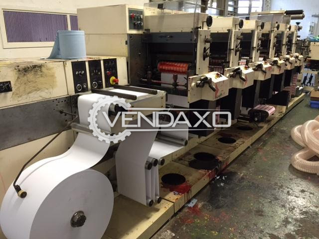 NILPETER F-3000 Flexo Label Printing Machine - 6 Color