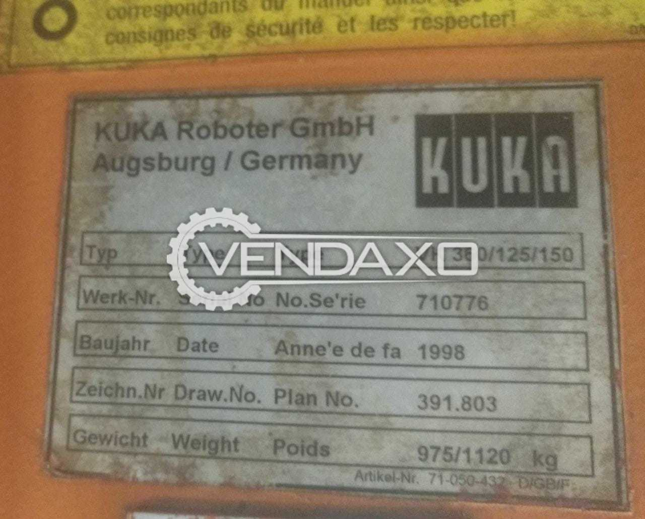 Available For Sale 5 Set of Kuka VK-360 Robot - 6 Axis