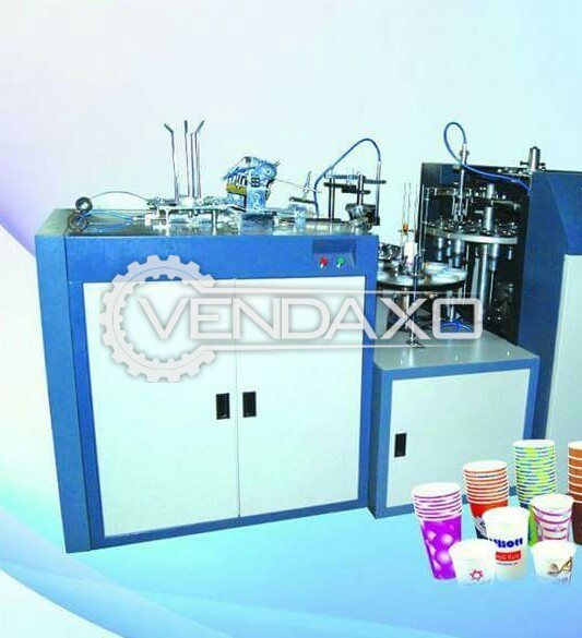 Fully Automatic Paper Cup Making Machine - Cup Size - 65 ML to 100 ML