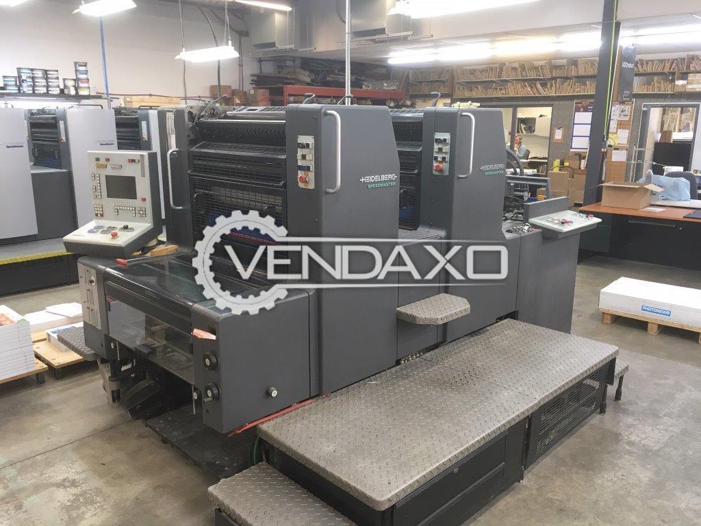 Heidelberg SM74-2 Offset Printing Machine - 2 Color