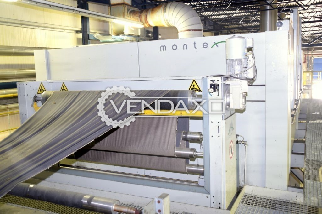 Monforts Montex 6000-7F Twin Air Stenter Machine - Roller Width - 2000 mm