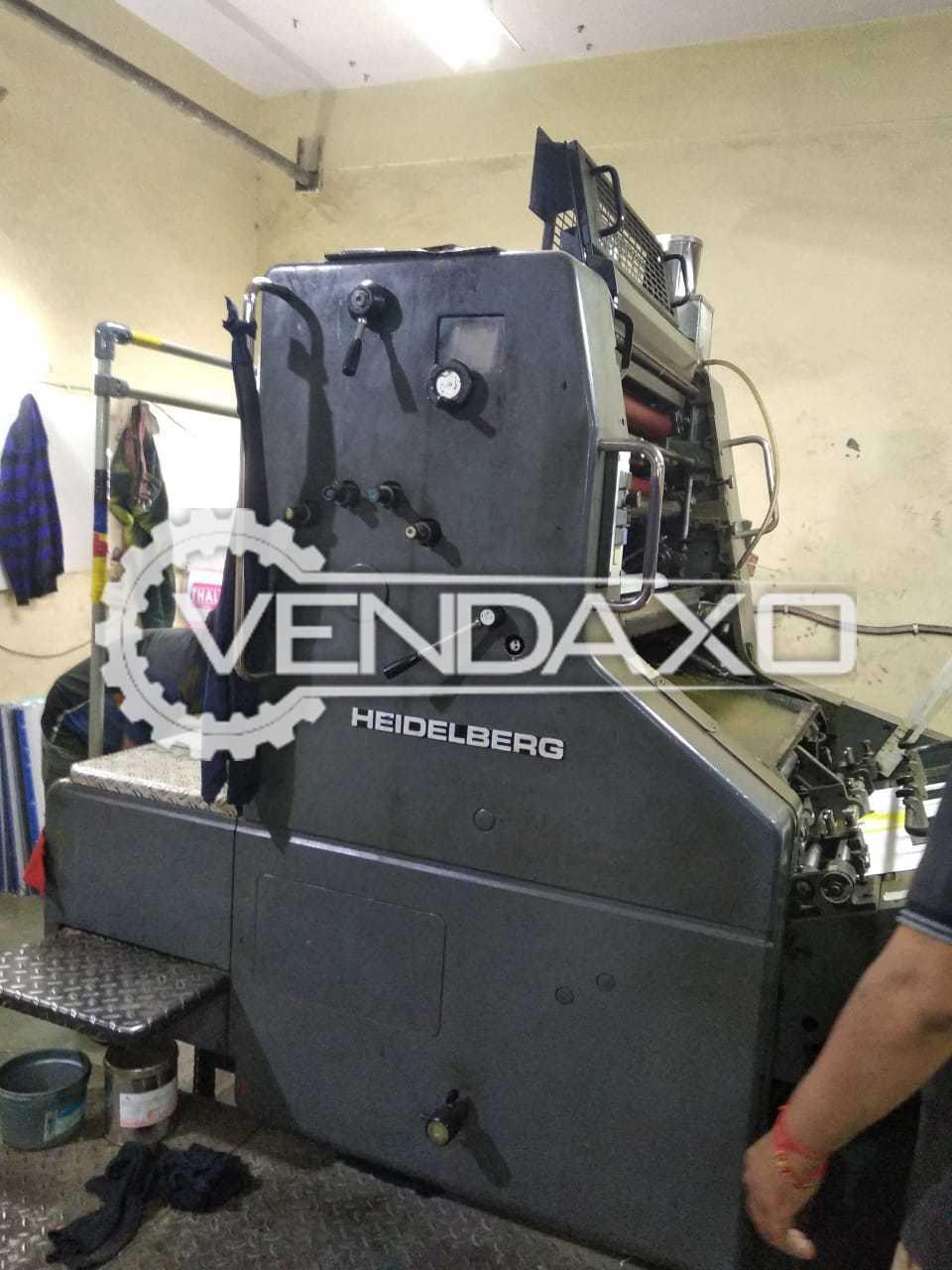 Heidelberg SORM Single Color Offset Printing Machine - Size - 20 x 29 Inch