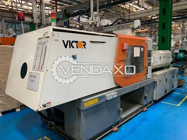 Victor VS-250E Injection Moulding Machine - 250 Ton, 2006 Model