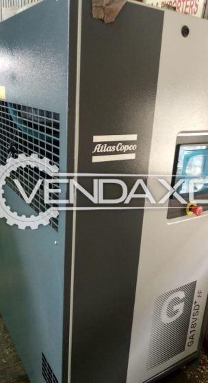 Atlas Copco GA18VSD+ FF Screw Air Compressor - 25 HP, 18 KW