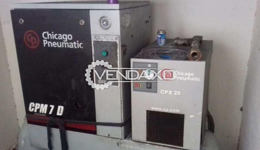 Chicago Pneumatic CPM7 D Screw Air Compressor - 7.5 HP, 5.5 KW