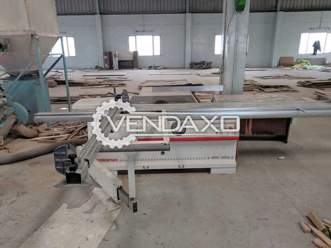 Mimimax S400 ELITE S SCM Panel Saw Wood Processing Machine - Cutting Width - 1270 mm