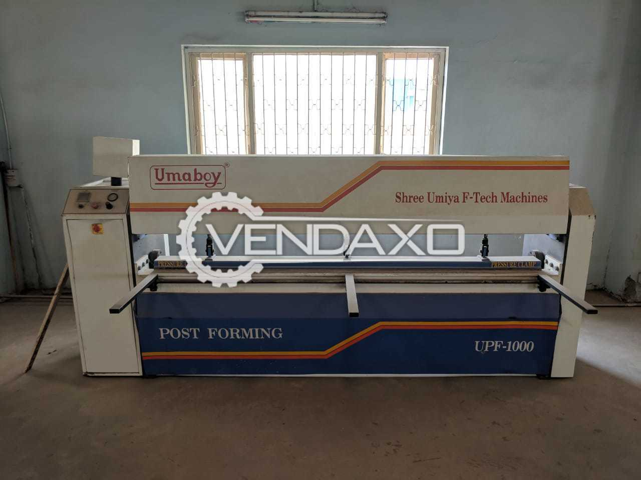 Umiya Tech UPF-1000 Post Forming Machine - Length - 300 to 2440 mm