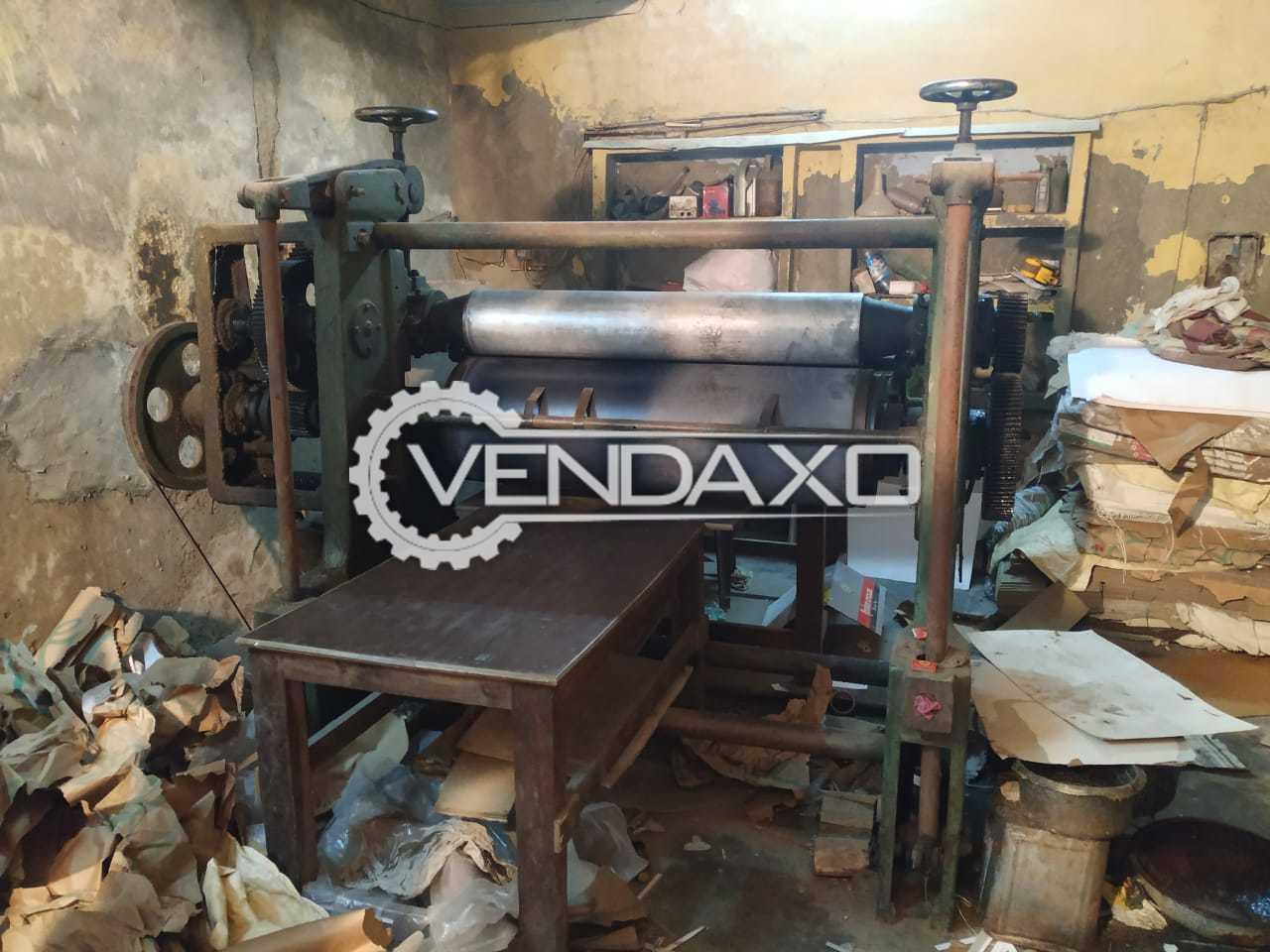 Paper And Paper Board Embossing Machine - Maximum Pressure - 12000 Kg