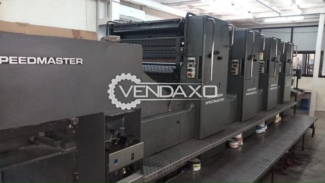 HEIDELBERG SM-102V Offset Printing Machine - 28 x 40 Inch, 4 Color
