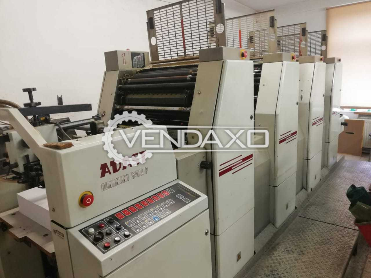 ADAST DOMINANT 547AP Offset Printing Machine - 15 x 20 Inch, 4 Color