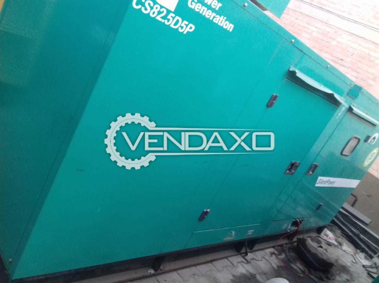 Cummins Diesel Generator - 82.5 Kva, 2015 Model