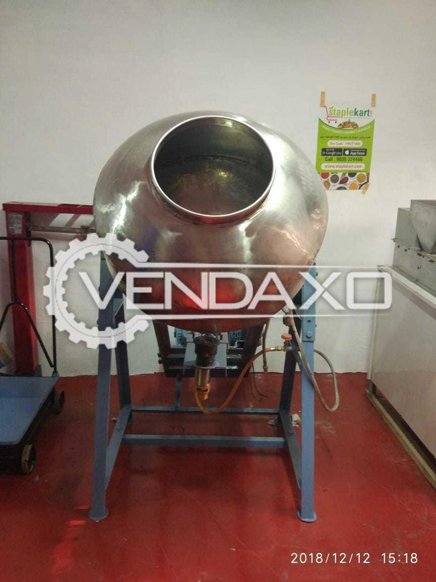 Siddharth Make Nut Roaster Cashew Machine - Rotary Model