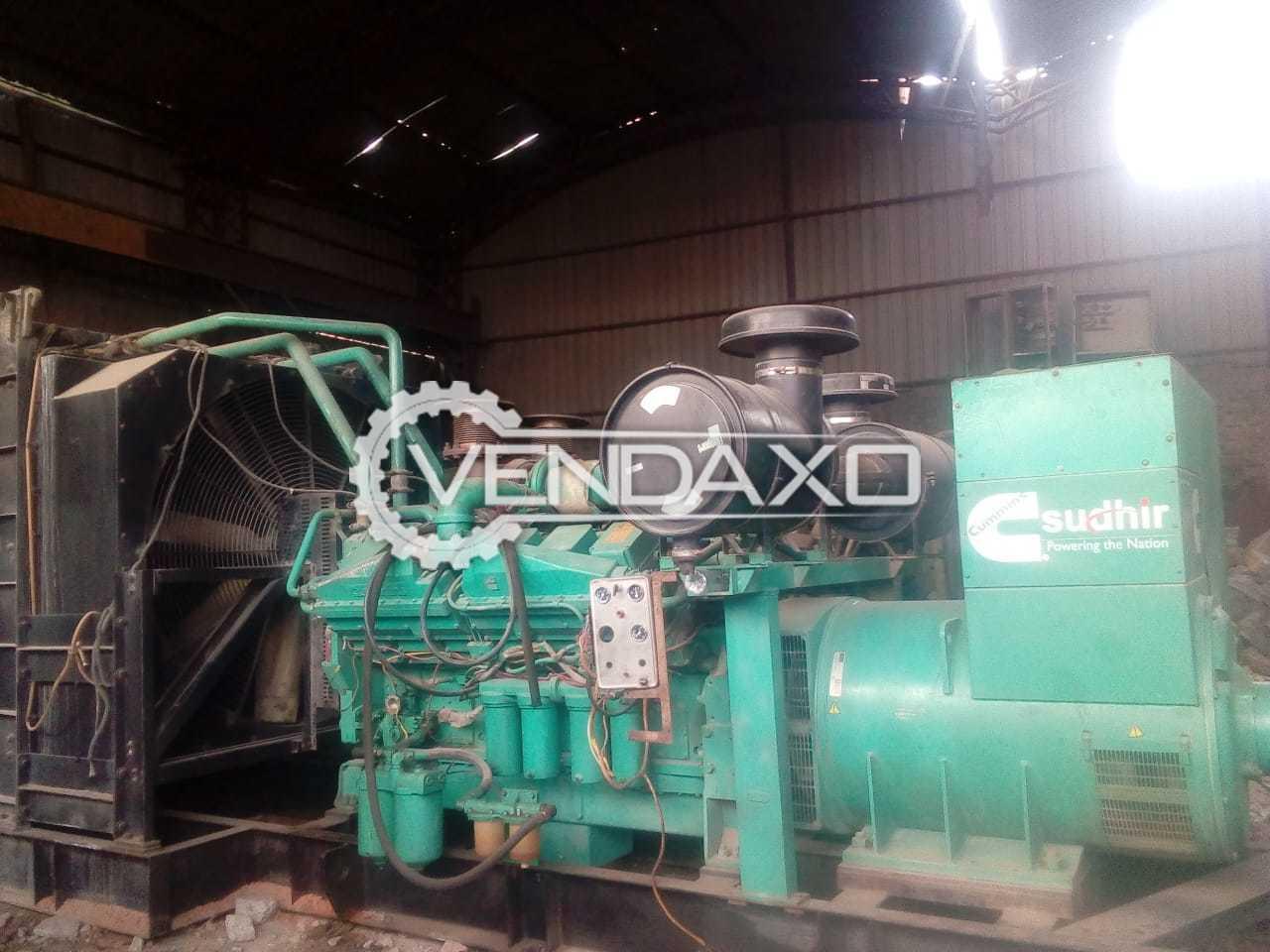 Cummins Diesel Generator - 1010 Kva, 2013 Model With Canopy