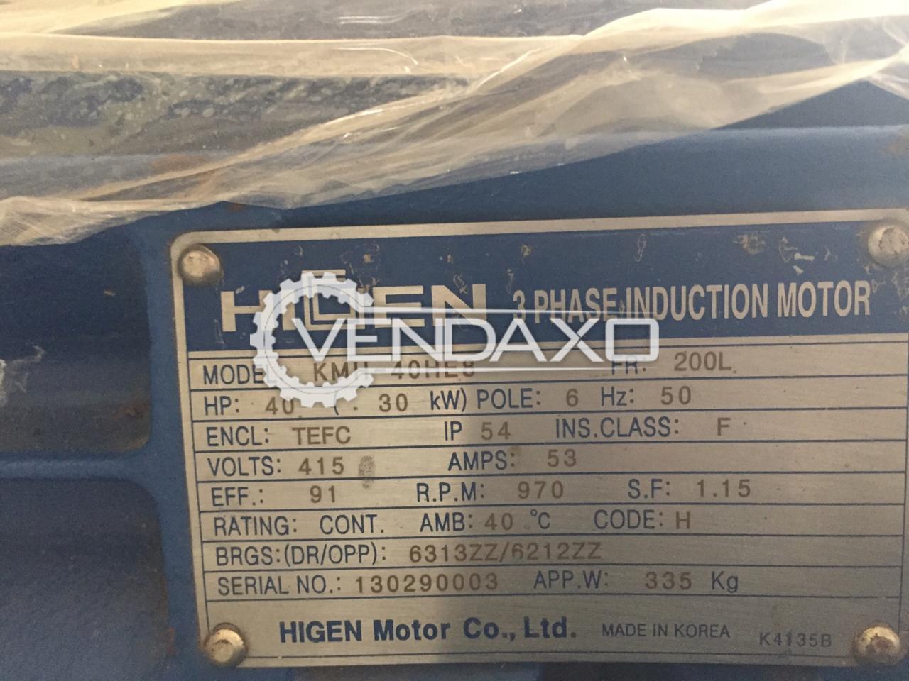 Higen KMH-40HE8 Induction Motor - Power - 30 KW