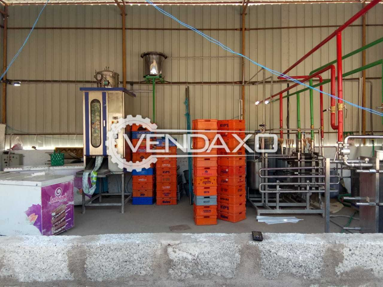 Milk Processing Plant Setup - 500 Liter