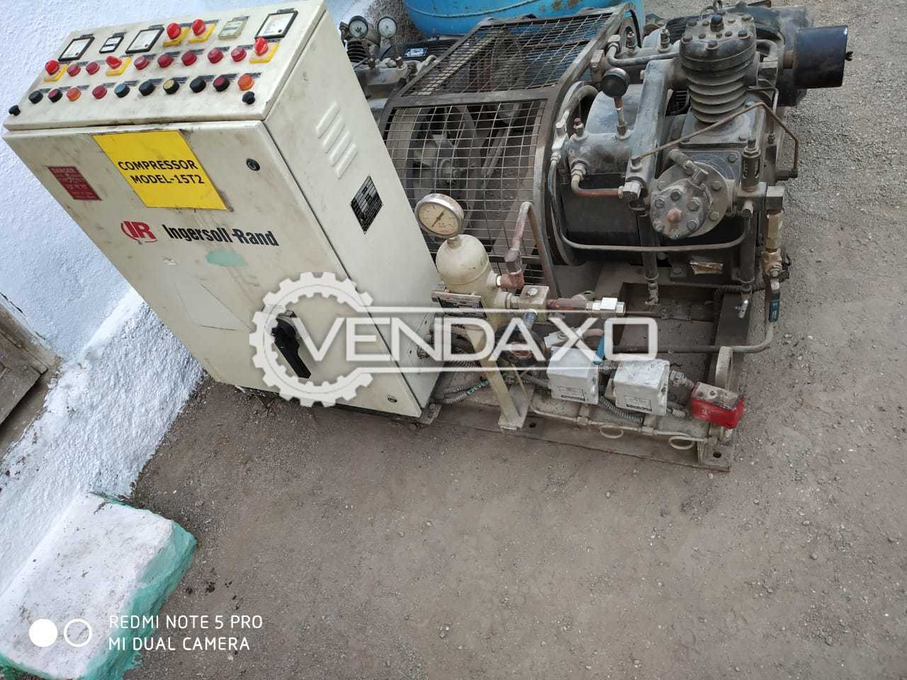 Ingersoll Rand 15T2 Duplex Air Compressor - 20 HP