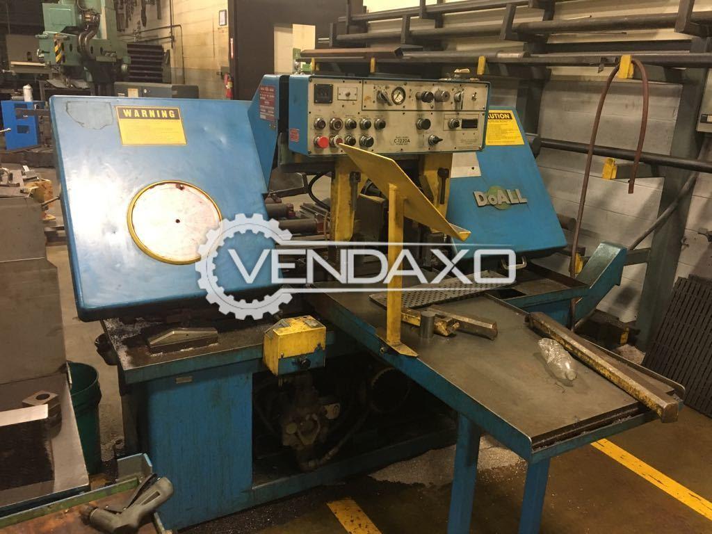 "DOALL C-1220A Bandsaw Machine - Blade Size - 1.5"" x 0.050"" x 144"""