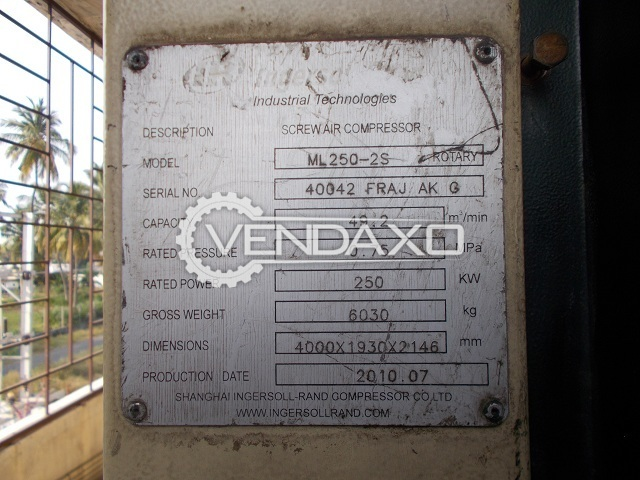 Ingersoll Rand ML250-2S Rotary Screw Air Compressor - 49.2 m3/min