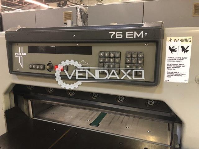 Polar 76EM Paper Cutters/Guillotines Machine - Size - 30 Inch