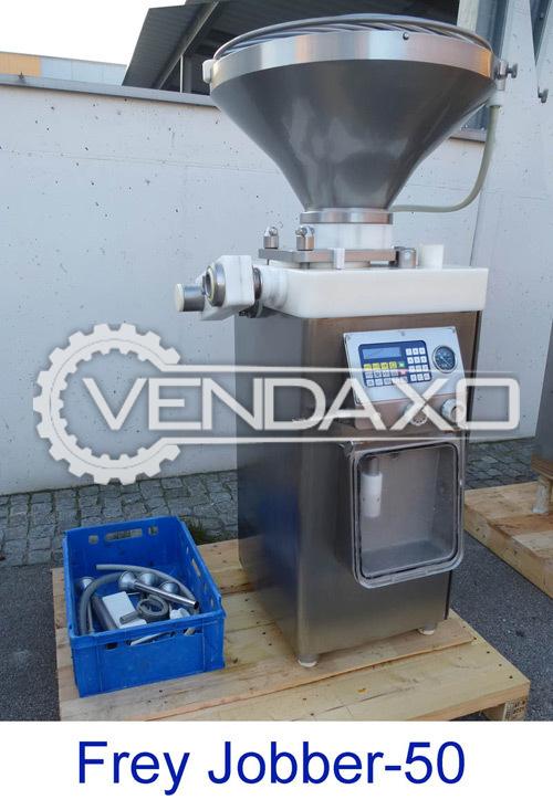 Frey Jobber 50 Vacuum Stuffer Machine - 2000 Kg Per Hour