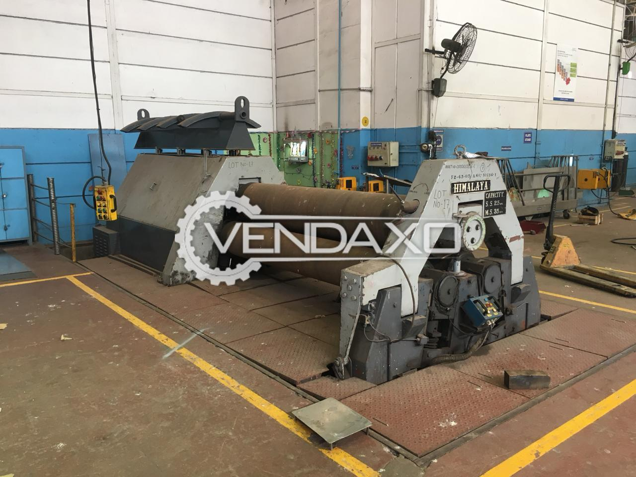 Himalaya Plate Bending Machine - Length - 4000 mm x 25 mm