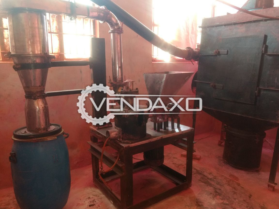 Used Air Classifying Grinding Mill For Grinding Powder - Motor - 10 HP