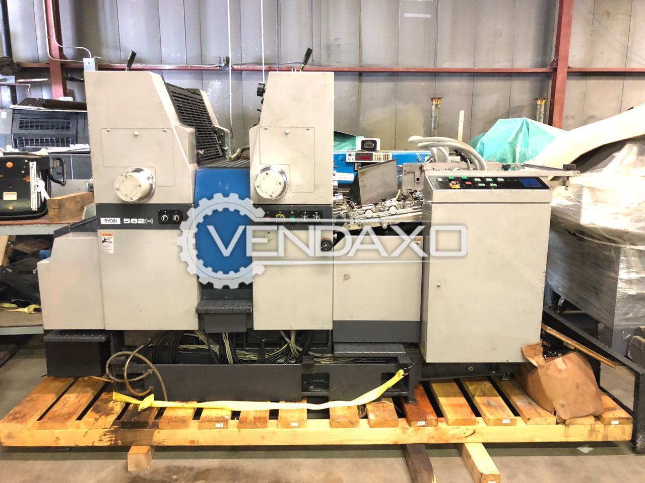 Ryobi 582H Offset Printing Machine - 18 X 23 Inch, 2 Color